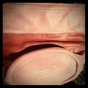 2 tone pink coach purse